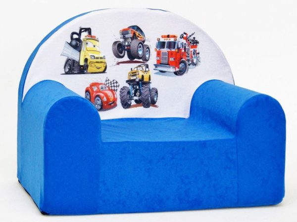 Children's Foam Armchair type W - WFC16 - Vehicles