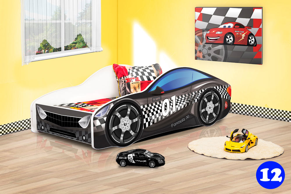 PPG4KIDS Boys Racing Car Bed Type R 12