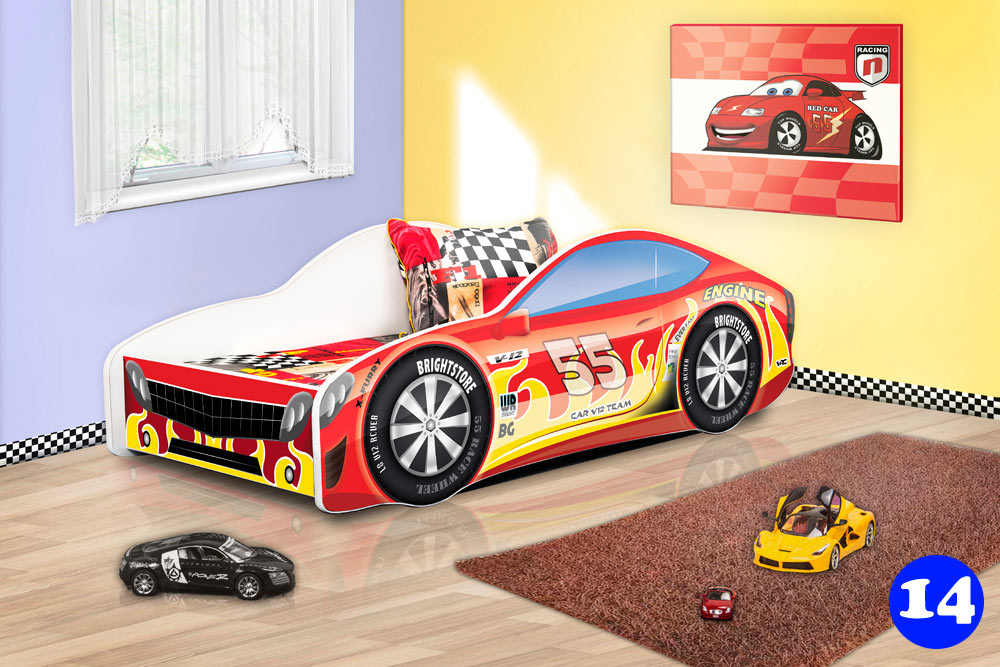PPG4KIDS Boys Racing Car Bed Type R 14