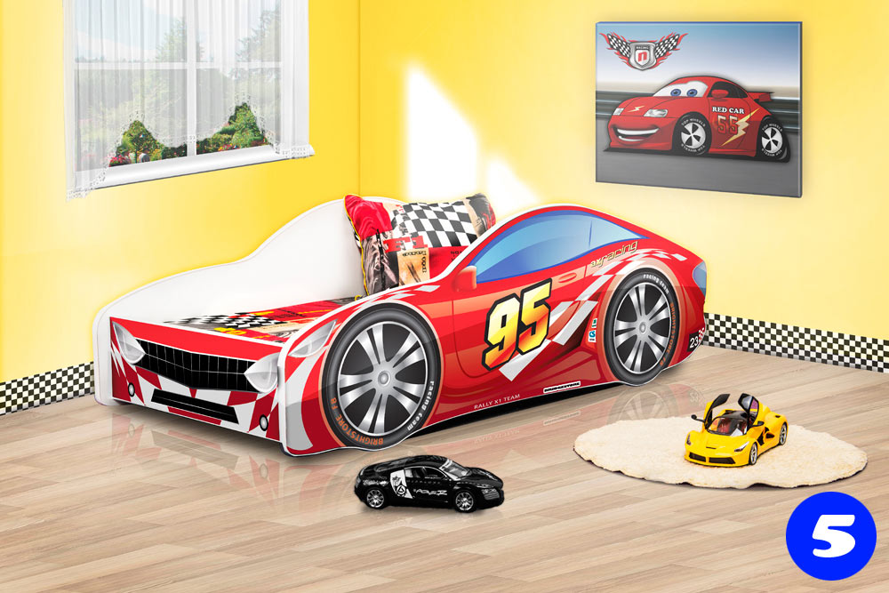 PPG4KIDS Boys Racing Car Bed Type R 5