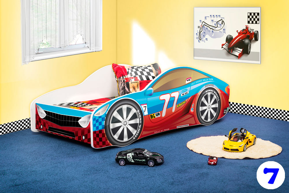 PPG4KIDS Boys Racing Car Bed Type R 7