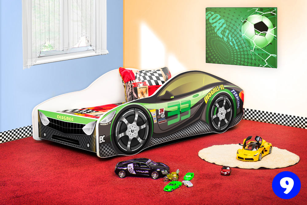 PPG4KIDS Boys Racing Car Bed Type R 9