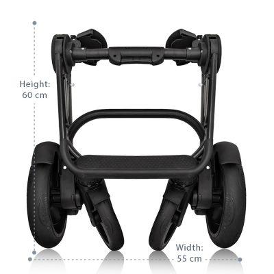 Qumes Flow 3in1 Eco Leather Travel System Qfl Noir Black