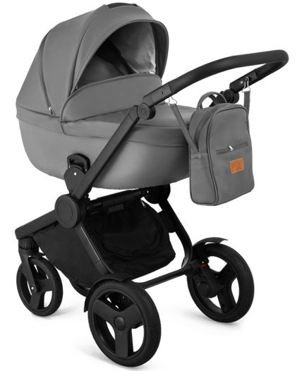 Trolley Qumes Flow 3in1 Eco-Leather Travel System QFL.GRIGIO Gray